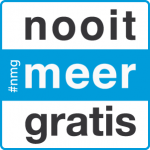 logo #nooitmeergratis / #nmg